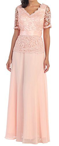 Belle Maids Long Lace and Chiffon Mother of the Bride Formal Gown-PEACH-M Belle Maids http://www.amazon.com/dp/B014IGSSK0/ref=cm_sw_r_pi_dp_EbcPwb03JWQC8