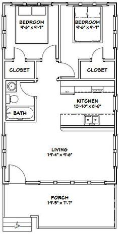 20x32 House -- #20X32H1 -- 640 sq ft - Excellent Floor Plans