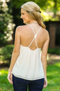 Let's Dance Tank-Cream - New Today | The Red Dress Boutique