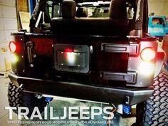 All lit up like a Christmas Tree. Poison Spyder Crusher Corners with LED tail lights. #4x4 #offroad #fourwheeling #rockcrawling #jeepguy #jeepgirl #jeeplife #jeepparts #jkwrangler #jeeper4life #jk #trailjeeps #instock #instajeep #mods #modifiedjeeps #golden #colorado  Http://www.trailjeeps.com