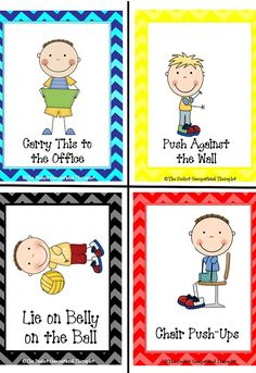 Occupational therapy products for autism and special needs created by pediatric OT Cara Koscinski, activity cards, sound eaze, sound ease, school eaze, school