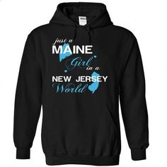 (MEJustXanh001) Just A Maine Girl In A New_Jersey World - #sweatshirt cardigan #sweater refashion. CHECK PRICE => https://www.sunfrog.com/Valentines/-28MEJustXanh001-29-Just-A-Maine-Girl-In-A-New-5FJersey-World-Black-Hoodie.html?68278