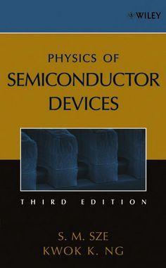 SZE, Simon M.; NG, Kwok K.. Physics of semiconductor devices. 3 ed. Hoboken: John Wiley & Sons, 2007. x, 815 p. Inclui bibliografia (ao final de cada capítulo) e índice; il. tab. quad.; 24x16cm. ISBN 0471143235.  Palavras-chave: SEMICONDUTORES.  CDU 621.315.592 / S997p / 3 ed. / 2007