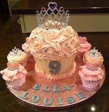 giant tiara cupcake