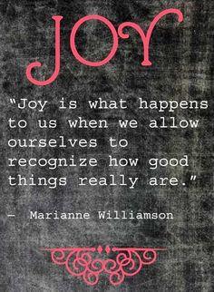 j o y // marriane williamson