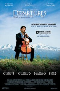 Departures - A beautiful Japanese film. Best foreign film for Oscar. Beau Film, Movie List, Movie Tv, Films Étrangers, Academy Awards Best Picture, Image Internet, Best Screenplay, I Love Cinema, Foreign Movies