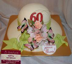 """Юбилейный торт на 60-летие """"Дамская шляпа"""".Вес 5 кг."""