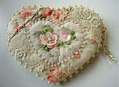 I ❤ crazy quilting, beading & ribbon embroidery . . . and sweet shabby colors