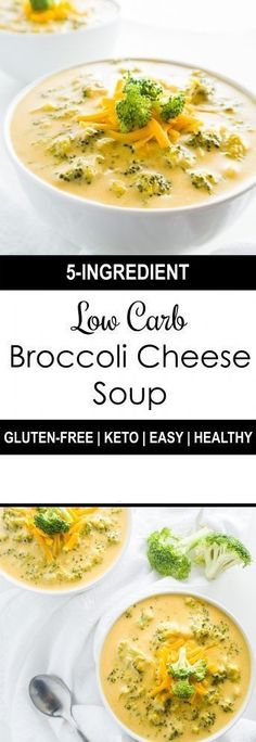 FacebookTwitterGoogle+PinterestThis easy, low carb broccoli cheese soup is gluten-free, healthy, SUPER CHEESY and needs just 5 ingredients. Ready in only 20 minutes… Ingredients 4 cups Broccoli (cut into florets) 4 cloves Garlic (minced) 3 1/2 cups Chicken broth (or vegetable broth) 1 cup Heavy cream 3 cups Cheddar cheese (pre-shredded – see notes) Preparation Method... Continue Reading →