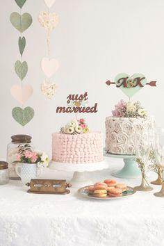Inspiração |  Simplesmente Branco #tartas #pasteles #bodas