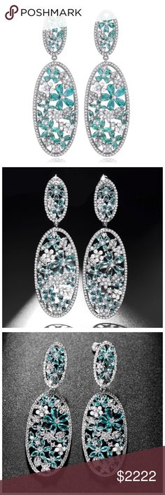 "🆕 Swarovski Crystals Mint Statement Earring ‼️ PRICE FIRM ‼️ 10% DISCOUNT ON 2 OR MORE ITEMS FROM MY CLOSET ‼️   Handmade Swarovski Crystals Earrings  Retail $138   To say that these are spectacular earrings would be an understatement. Beautifully & skillfully handcrafted from the finest Swarovski crystals & components with a 14K white gold overlay. Earrings hang down approximately 2.25"". Please check my closet for many more items including designer clothing, scarves and much more. Jewelry…"