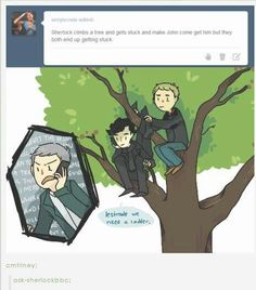 Lestrade, we need a ladder