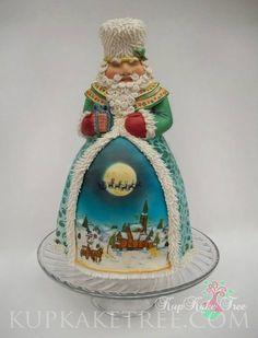3D Christmas cakes | 3D Father Christmas cake | Christmas cakes | Pinterest