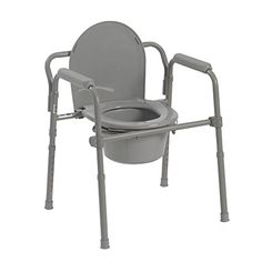 Drive Medical Folding Steel Bedside Commode Grey http://ift.tt/2iIrVGQ