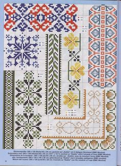 multicoloured folk pattern