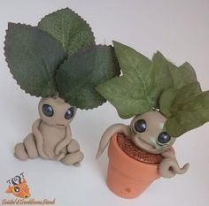 Polymer Clay Root Plant  Harry Potter by TwistedTroublesome