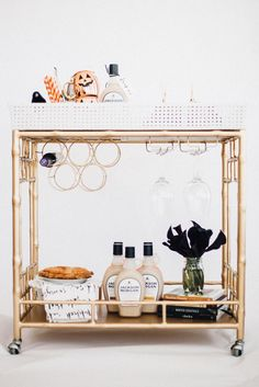 Spooky Halloween Party Tips & Bar Cart Decor - Classic Bride blog