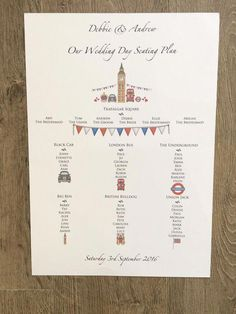 Items similar to Printed Wedding Seating Plan on Etsy Wedding Post Box, Our Wedding Day, Wedding Guest Book, Wedding Table Themes, Seating Plan Wedding, Unique Wedding Stationery, Wedding Invitations, Stationery Printing, London Wedding