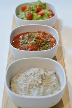 vegane Dips, Aufstriche – Salsa, Guacamole & Baba Ganoush