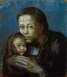 Picasso (1881-1973) - Maternidad-madre e hijo (Maternity-mother and child) - 1903