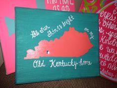Kentucky canvas. how freggin cute @Nicole Novembrino Novembrino Novembrino Novembrino Thompson