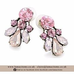 Pink Crystal Studs