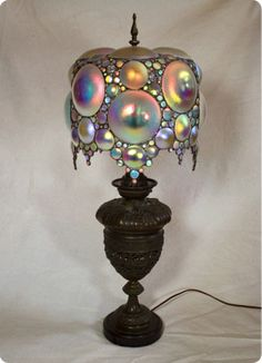 Victorian Lamps, Antique Lamps, Vintage Lamps, Antique Decor, Chandeliers, Chandelier Lamp, I Love Lamp, Stained Glass Lamps, Home And Deco