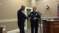 SRO Murray thanked by Chief Doyle for his years of service