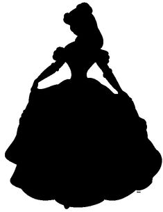 the beauty and the beast Silhouette - Belle