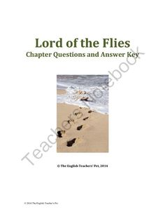 "Lord of the Flies Chapter Questions and Answer Key from The English Teacher's Pet on TeachersNotebook.com -  (20 pages)  - Included in this 24 page packet are Twelve chapter questions worksheets with a paginated answer key. ""Who said it?"" Quotes are mainstay questions, and plot and character questions are also included, along with thematic questions on favorite char"