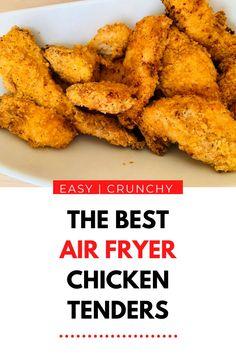 Healthy & Crispy Air Fryer Garlic Chicken Tender Recipe | Healthy Family Meals #easyrecipes #healthyrecipes #quickdinnerideas #easydinner #chickentenders #airfryerrecipes