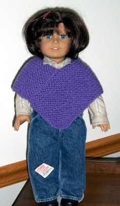 American Girl Poncho Knitting Pattern