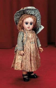 "Theriault's - 11"" Petite French Bisque Bebe Jumeau with Lovely, Pale Bisque, c 1888"