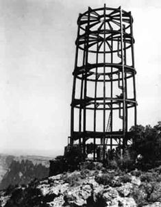 Desert View Watchtower - Construction begins