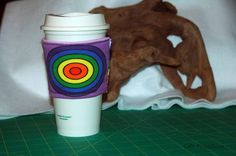 Rainbow Circles Sleeve #2 by CafeProjections on Etsy