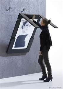 AMAZING space saver.  Large Photo frame/Dining Room Table!?!?  Genius!