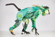 Gilles Cenazandotti Transforms Ocean Debris into Animal Sculptures   Hi-Fructose…