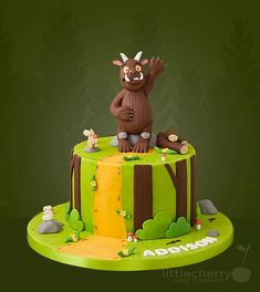 The Gruffalo - Cake by Little Cherry Gruffalo Party, The Gruffalo, Cakes For Women, Cakes For Boys, Single Tier Cake, 3rd Birthday Cakes, Cherry Cake, Creative Cakes, Tiered Cakes