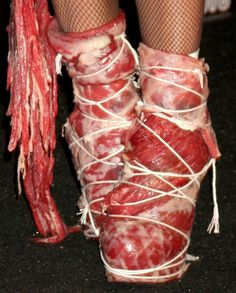 THE worse-Gaga's meat shoes