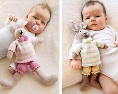 Такие милые, вязаные спицами заяцы станут для вашего малыша одними из первых игрушек, а главное безопасными и сделанными с любовью.