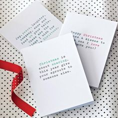 christmas cards pack of six by slice of pie designs | notonthehighstreet.com