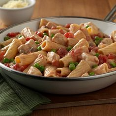 Creamy Chicken Pasta Skillet...made this for dinner tonight. Super easy and yummy! Kids loved it
