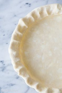 Easy, no machine required, buttery, flaky pie crust and pastry crust recipe ~ SimplyRecipes.com