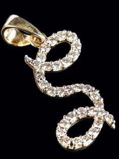 """Stylish And Suave Diamond Pendent For All Those Who Would Like To Wear The Letter """"s""""."""