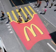 McDonalds has always been one of the leaders in the advertising realm. Creative ideas like this crosswalk help bring business.