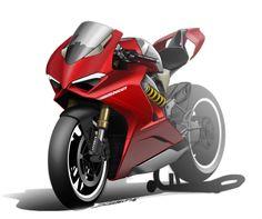 Ducati Panigale V4 2018 - Design sketch