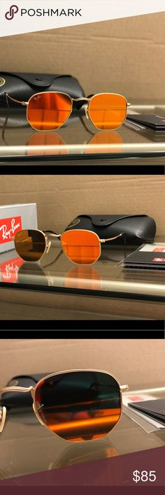 100% Authentic Ray-Ban Hexagonal Sunglasses NWT Get yourself a beautiful pair of brand new Ray-Ban Hexagonal sunglasses for 65% off retail price! Please refer to the details below to get a better idea of what you are purchasing:  •These are 100% Brand New and Authentic Ray-Ban sunglasses  •This is the 51mm lens  •This is 100% Covered by Ray-Bans limited Life Time Warranty.  •Your purchase will be Bubble Wrapped and insured.  •Your purchase included everything seen in the photos. (Retail Box…