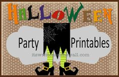 It's Written on the Wall: (Halloween) Free Party Printables and Ideas for styling your Halloween party