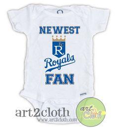 Kansas City ROYALS FAN Baby Onesie