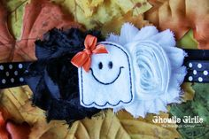 Ghost Headband, Perfect for a little girl's halloween costume!
